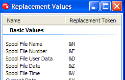 inserting replacement values