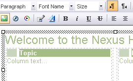 The Nexus ECM includes a rich browser client app for creating formatted content directly into the ECM.