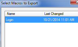 Presto's macro export feature